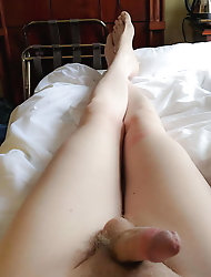 Amazing shemale chick gets her asshole drilled